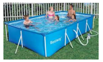 Bestway Splash Frame Pool Set - 400cm x 211cm x 81cm