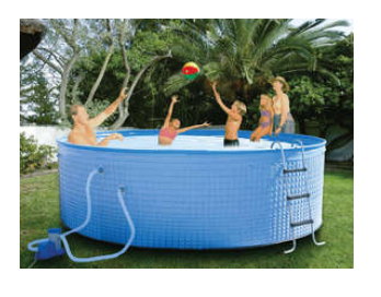 Seagull Wizz Pool With Pump - Filter - Vacuum Kit - Ladder - 4m x1.2m