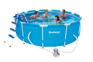 Bestway 366X100CM Steel Frame Pool Set